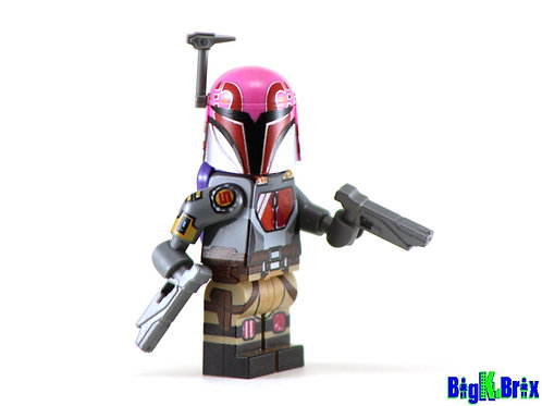 SABINE WREN Custom Printed on Lego Minifigure! Star Wars Mandalorian