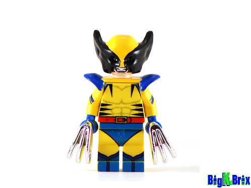 WOLVERINE BLUE Custom Printed on Lego Minifigure! Marvel Xmen