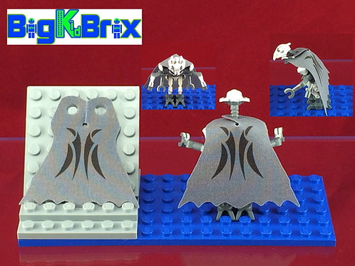 General Grievous GREY Custom Cape for Lego Minifigure Minifigs