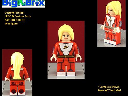 Saturn Girl DC Custom Printed Minifigure