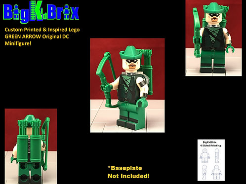 GREEN ARROW original Custom Printed & Inspired Lego DC Minifigure