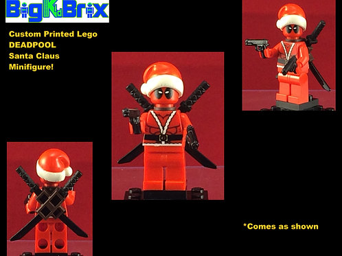Deadpool Santa Claus Outfit Marvel Custom Printed Minifigure