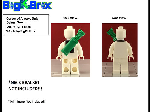 Quiver of Arrows GREEN style for Lego Minifigures Minifigs