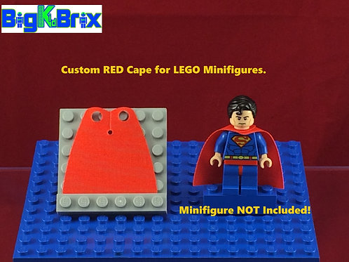 Cape RED Custom for Lego Minifigures Minifigs