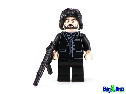 REAPER aka JOHN WICK Custom Printed & Inspired Lego Fortnite/Movie Minifigure