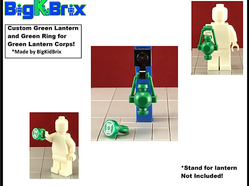 GREEN LANTERN & RING Set for Green Lantern Lego Minifigure Minifigs