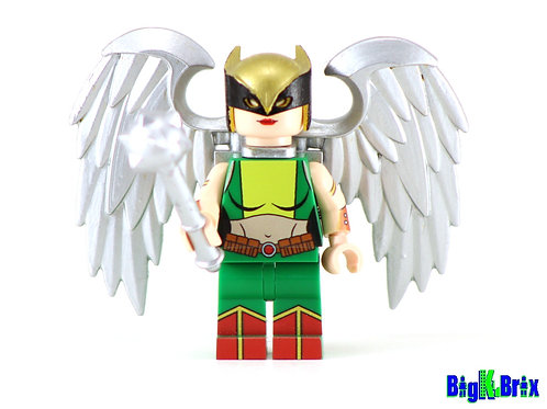 HAWKGIRL 2nd Generation Custom Printed & Inspired DC Lego Minifigure