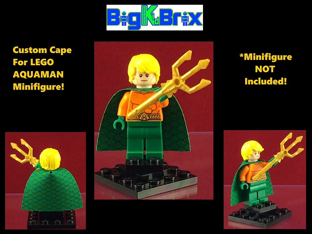 Cape Aquaman Style #1 Custom for Lego Minifigures Minifigs