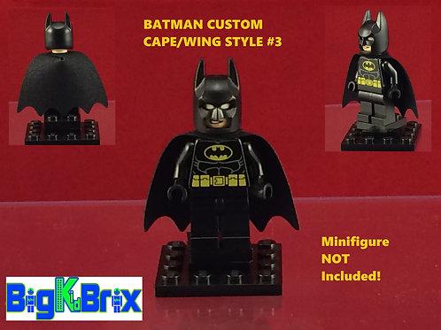 Cape Batman Style BLACK Custom for Lego Minifigures Minifigs