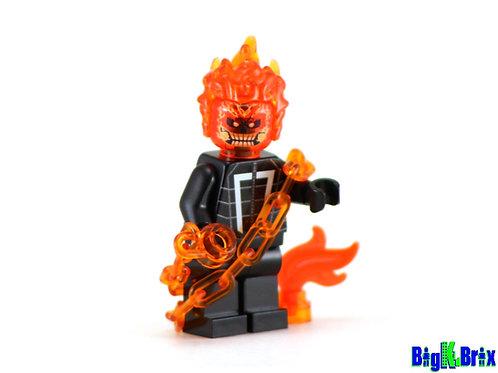 GHOST RIDER Custom Printed on Lego Minifigure! Marvel