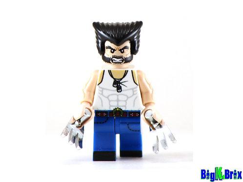 WOLVERINE Logan Custom Printed Lego Minifigure! Marvel