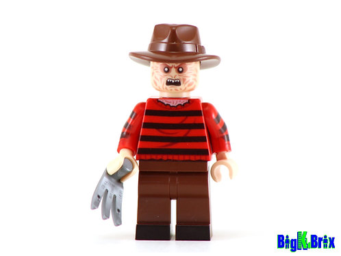 FREDDY KRUEGER Custom Printed & Inspired Lego Horror Minifigure!