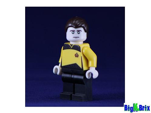 DATA Custom Printed on Lego Minifigure! Star Trek