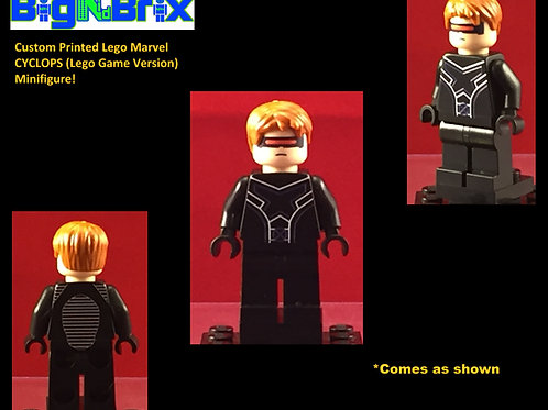 Cyclops Xmen Lego Game Inspired Marvel Custom Printed Minifigure
