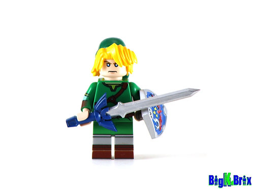 LINK Zelda Custom Printed on Lego Minifigure! Nintendo Game