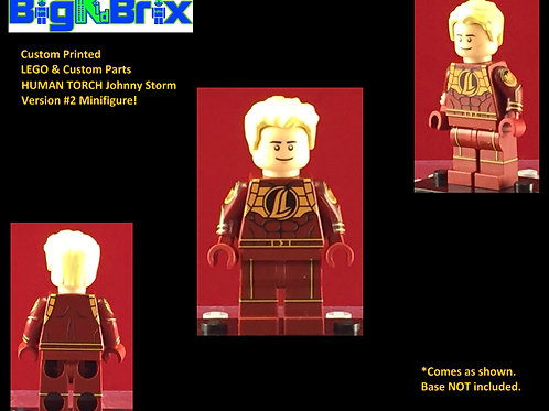 Johnny Storm Human Torch Version #2 Marvel Custom Printed Minifigure
