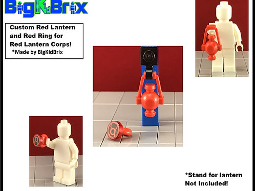 RED LANTERN & RING Set for RED Lantern Corps Lego Minifigure Minifigs