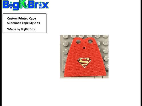 SUPERMAN Cape Style #1 Custom Printed for Lego Minifigures Minifigs