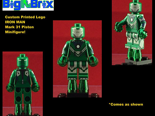 Iron Man Mark 31 Piston Marvel Custom Printed Minifigure