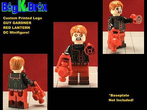 GUY GARDNER Red Lantern DC Custom Printed Lego Minifigure