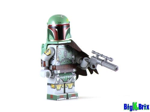 BOBA FETT Custom Printed on Lego Minifigure! Star Wars