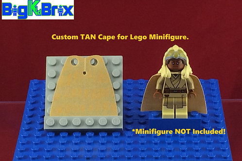 Cape TAN Custom for Lego Minifigures Minifigs