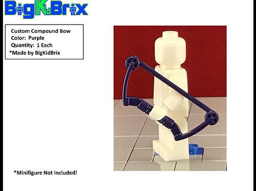 Bow Compound PURPLE Custom for Lego Minifigures Minifigs