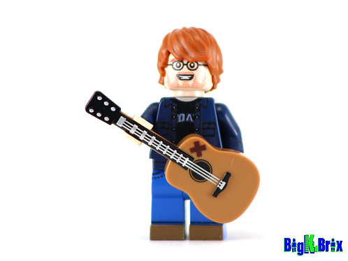 ED SHEERAN Musician Custom Printed & Inspired Lego Minifigure