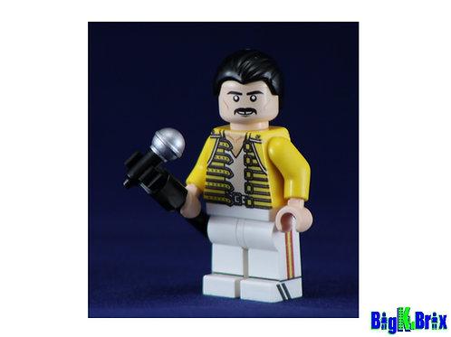 FREDDY MERCURY Queen Custom Printed on Lego Minifigure! Musician