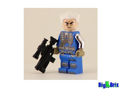 CABLE Custom Printed on Lego Minifigure! Marvel Xmen