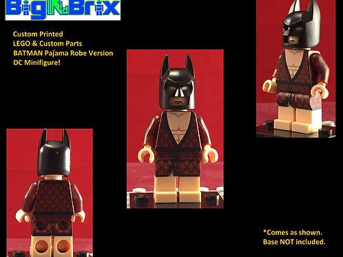 Batman Pajama Robe Version DC Custom Printed Minifigure