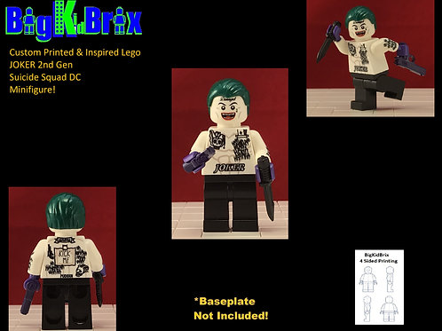 JOKER 2nd Gen Suicide Squad Custom Printed & Inspired Lego DC Minifigure!