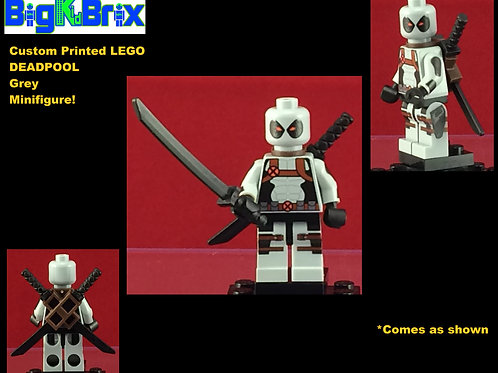Deadpool Grey Outfit Marvel Custom Printed Minifigure