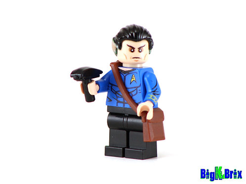 SPOCK Custom Printed on Lego Minifigure! Star Trek