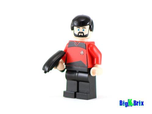 COMMANDER RIKER Custom Printed on Lego Minifigure! Star Trek