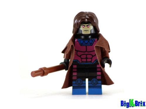 GAMBIT Custom Printed on Lego Minifigure! Marvel Xmen