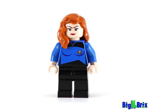 BEVERLY CRUSHER Custom Printed on Lego Minifigure! Star Trek