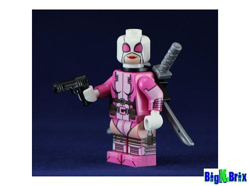 DEADPOOL GWEN Custom Printed & Inspired Lego Marvel Minifigure