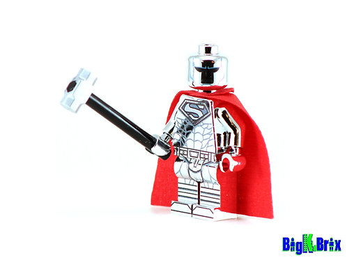 STEEL CHROME Superman Custom Printed & Inspired Lego DC Minifigure