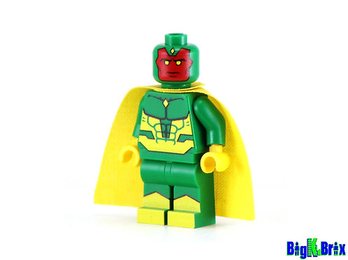 VISION Custom Printed & Inspired Lego Marvel Minifigure