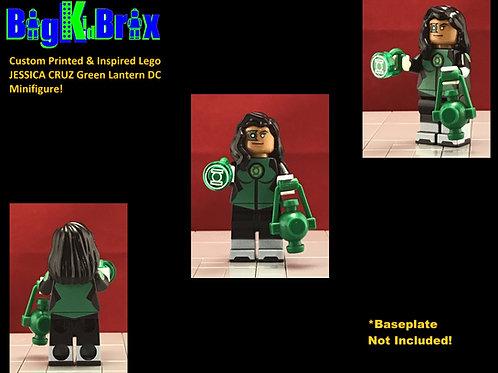 JESSICA CRUZ Green Lantern DC Custom Prinnted Lego Minifigure