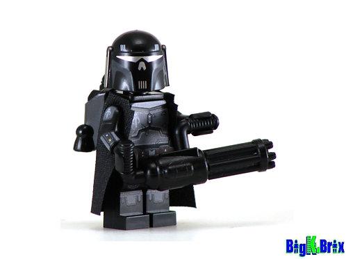 MANDALORIAN EXECUTIONER BLACK Custom Printed on Lego Minifigure! Star Wars