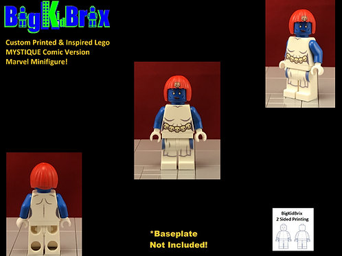 Mystique Comic Version Custom Printed & Inspired Lego Marvel Xmen Minifigure