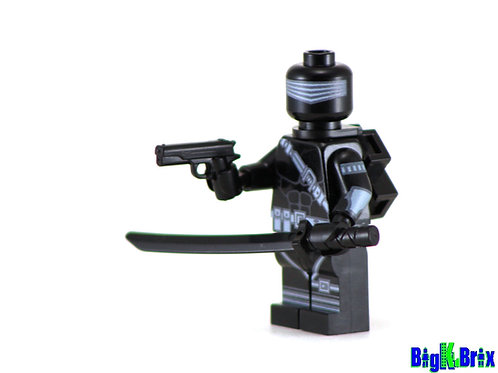 SNAKE EYES Custom Printed Lego GI JOE Minifigure