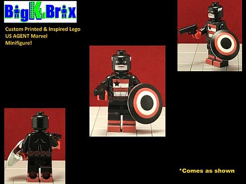 US AGENT Custom Printed & Inspired Marvel Lego Minifigure