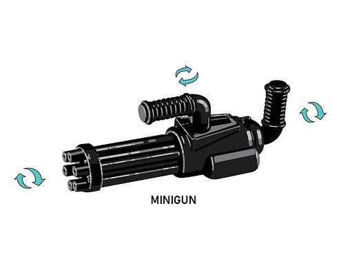 Custom Minigun aka Rotary Cannon Blaster for Lego Minifigures