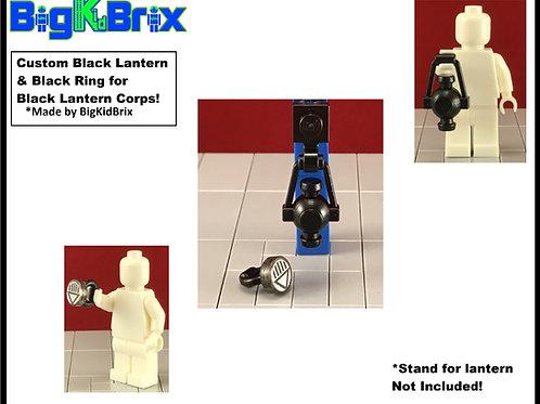 BLACK LANTERN & RING Set for Black Lantern Corps Lego Minifigure Minifigs