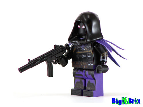 RAVEN Custom Printed & Inspired Lego Fortnite Minifigure