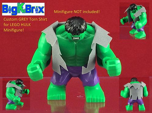 Hulk GREY Torn Shirt for Lego Maxi Fig
