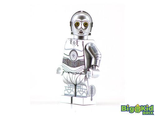 U-3PO CHROME SILVER Custom Printed on Lego Minifigure! Star Wars *ONLY 2 ea